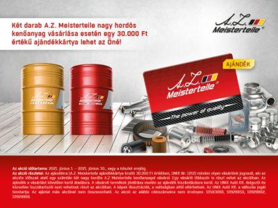 A.Z. Meisterteile nagy hordós kenőanyag akció