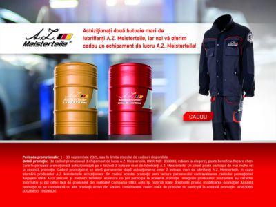 Promotia lubrifiantilor A.Z. Meisterteile la butoi mare!